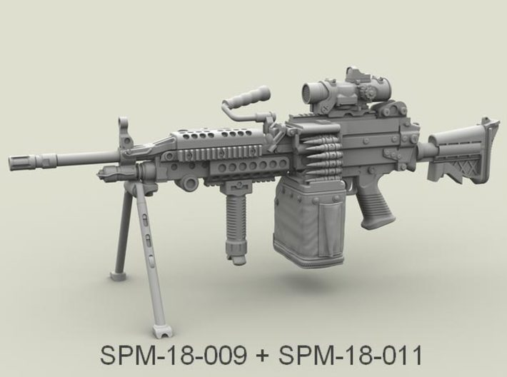 1/18 SPM-18-011 LBT MK48 Box Mag (middle) 3d printed