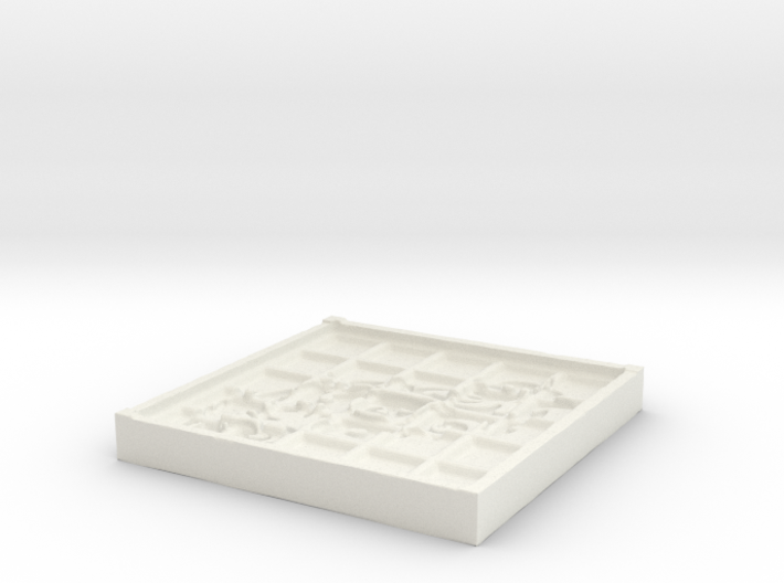 Tribal Beveled Mold 3d printed
