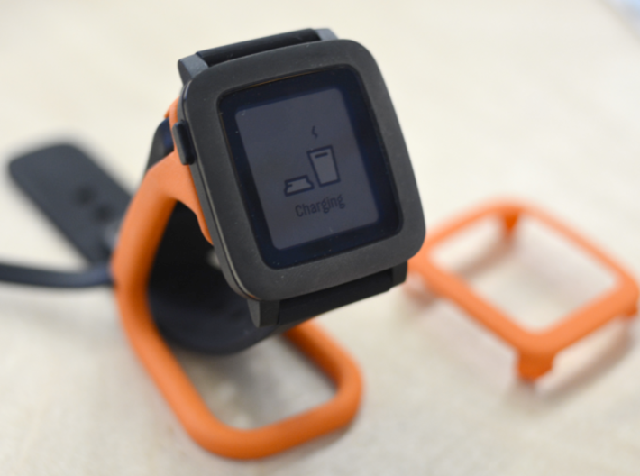 Charging dock for Pebble Time, Steel, Time 2, etc! 3d printed The money shot.