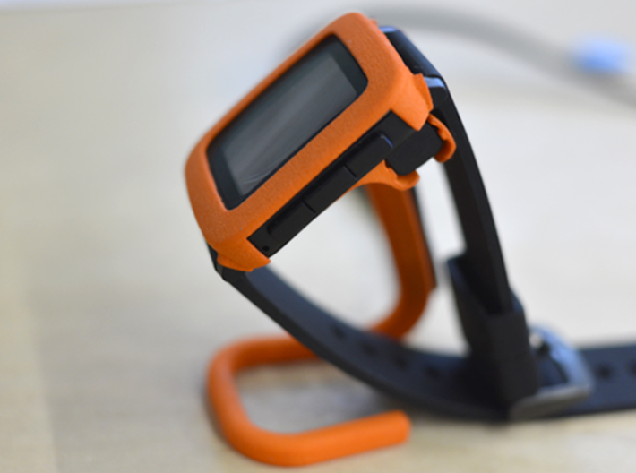 Charging dock for Pebble Time, Steel, Time 2, etc! 3d printed Side view