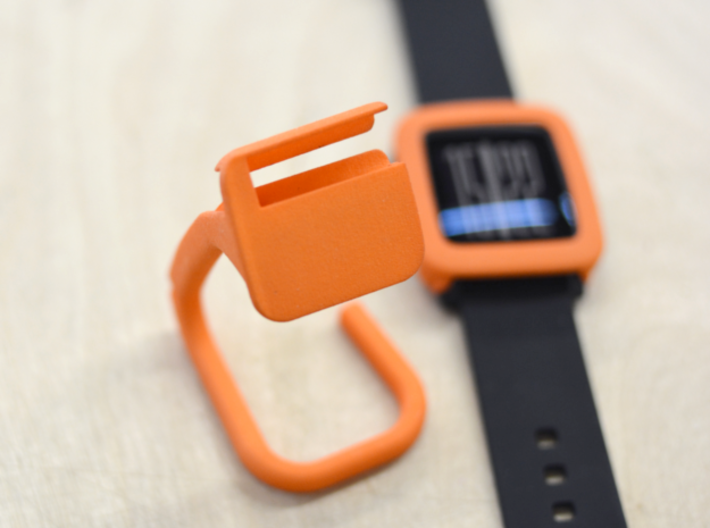 Charging dock for Pebble Time, Steel, Time 2, etc! 3d printed Without the cable.