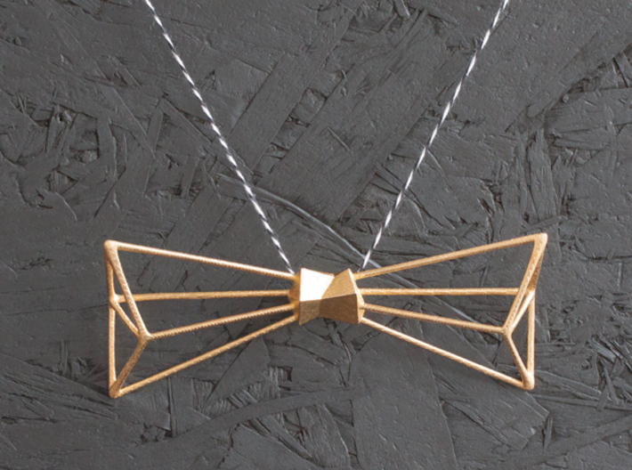 Bow Tie and Necklace in one 3d printed