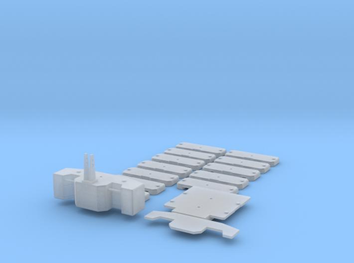 1/87 HO Gewichtssatz für Systemtraktoren 3d printed