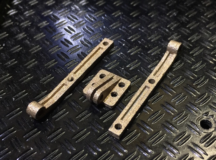 Defender Tailgate Hinges 3d printed Finished product shown.