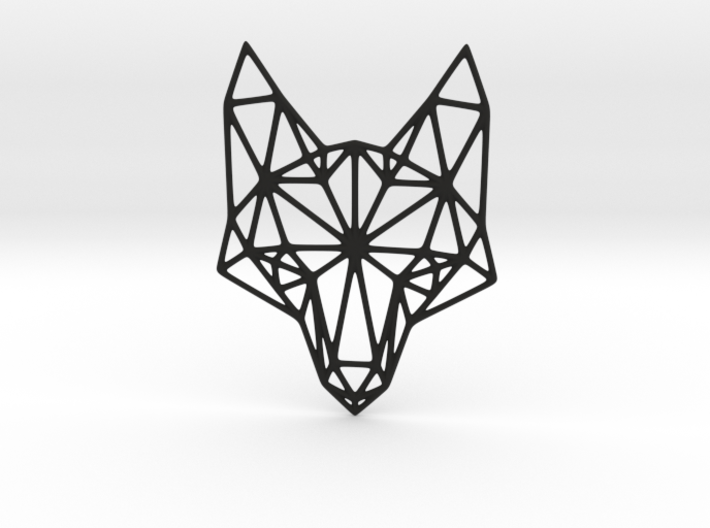 Geometric Fox Head Pendant 3d printed