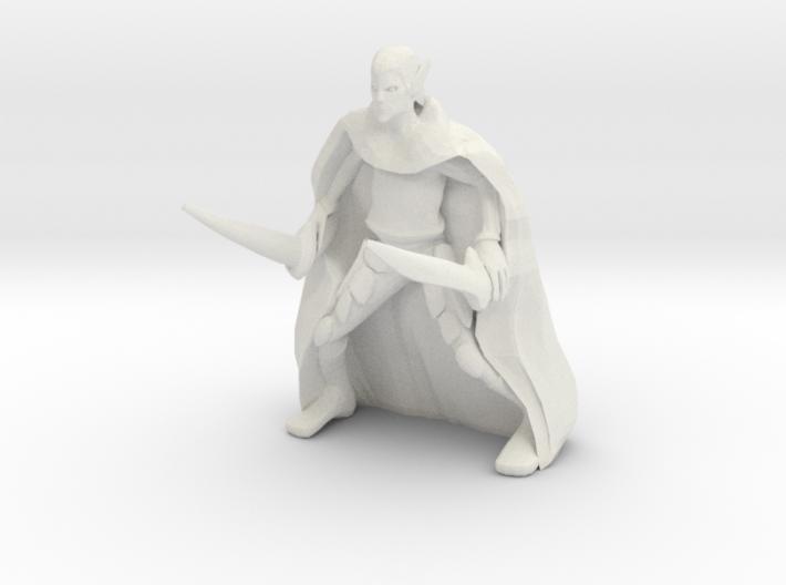 Drow Warrior 3d printed