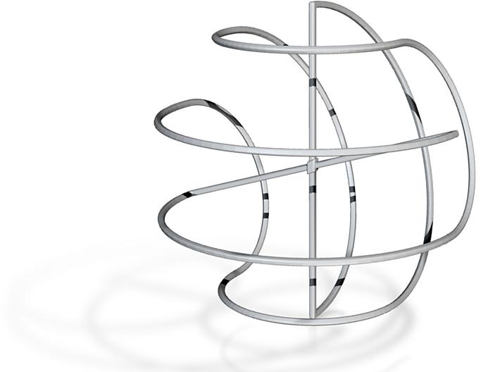 Minimalist (10, 2)-Sphericon medium kinetic toy 3d printed