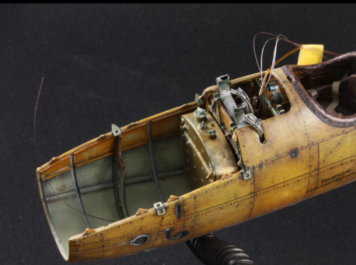 1:32 Albatros D.V/a Fuel Tank (WNW drop in) 3d printed installed in WNW Albatros D.V