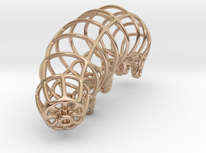 Wireframe Tardigrade 3d printed