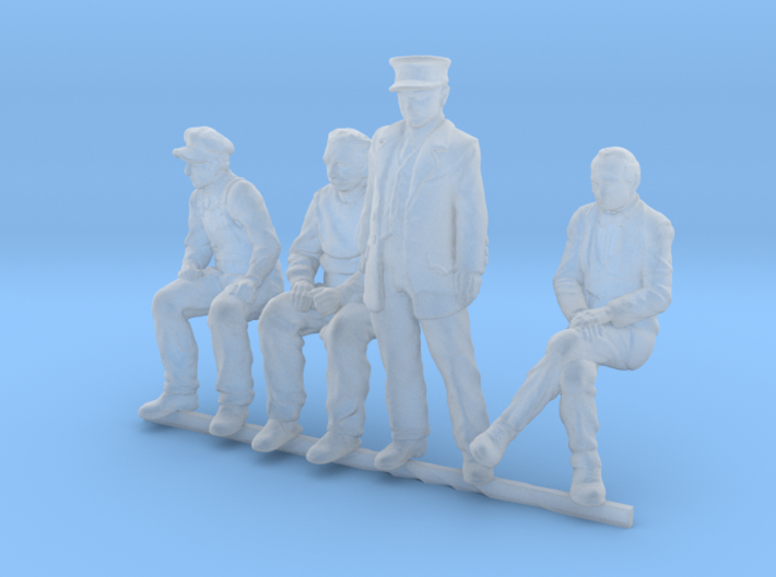 HO scale Figures 4 pack 3d printed