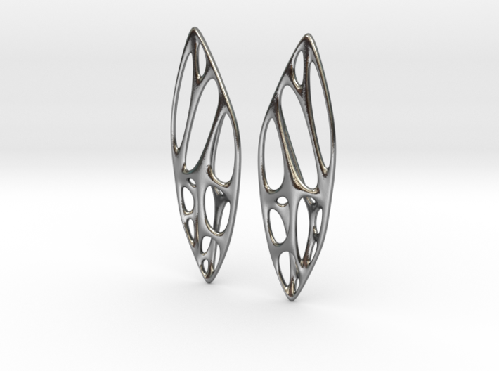 Cicada Wing Earring Parts 3d printed