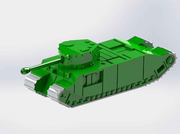 British TOG Heavy Tank 1/144 3d printed Add a caption...