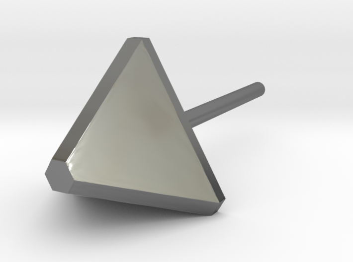 triangle ear stud 3d printed