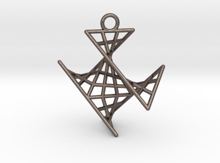 crux_pendant (small) 3d printed