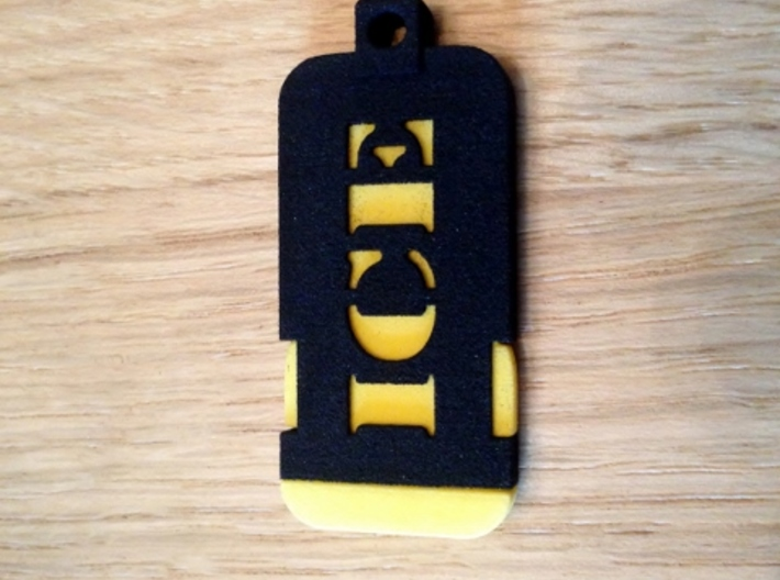Emergency Contact Key Chain/Pendant Insert 3d printed