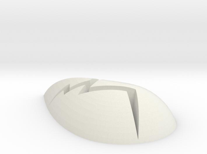 Teardrop Gem Cracked 3d printed
