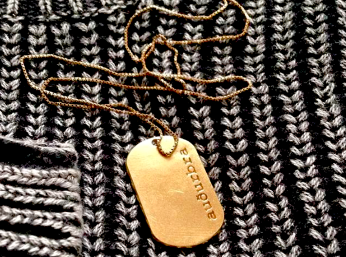 Personalized name tag pendant 3d printed