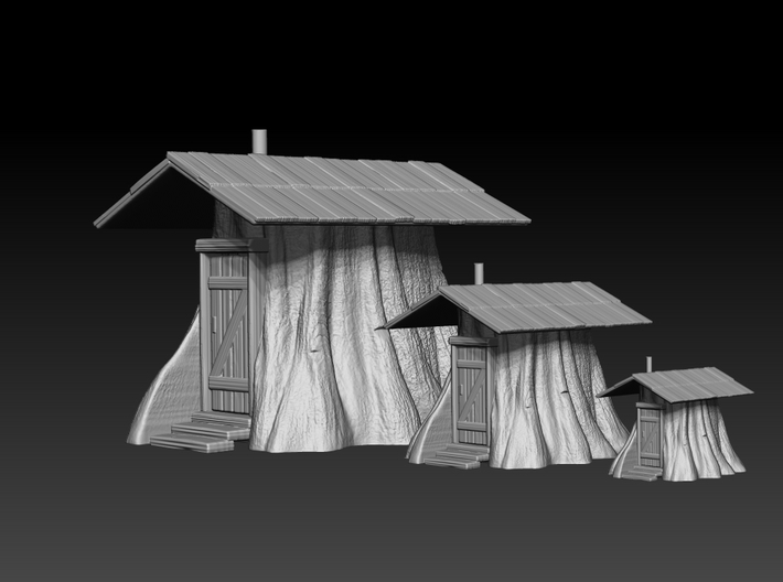Stump Shack - N Scale 3d printed