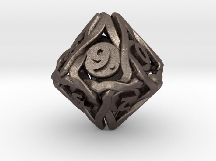 'Twined' Dice D10 Spindown Die (18 mm) 3d printed