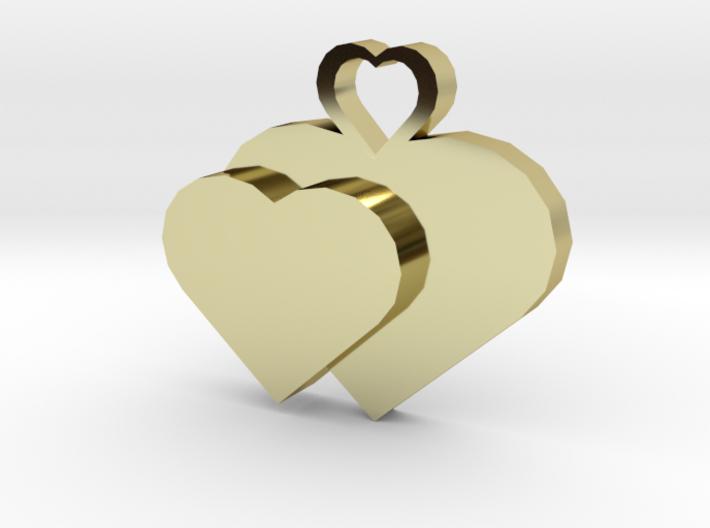Heart2heart Pendant 3d printed