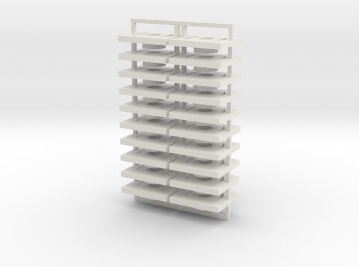 Set of 20 mounts for Dapol bogies 3d printed