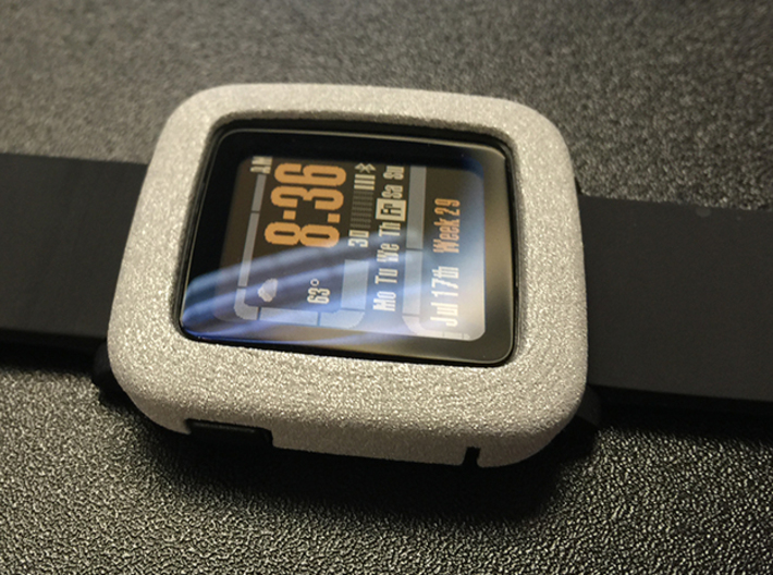 Pebble Time - Bumper 3d printed Check out this awesome Star Trek LCARS theme!