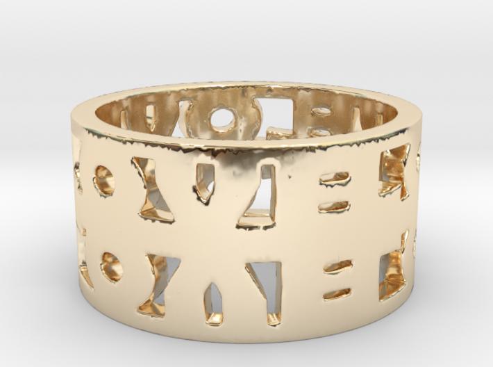 Infinite Love Ring 3d printed