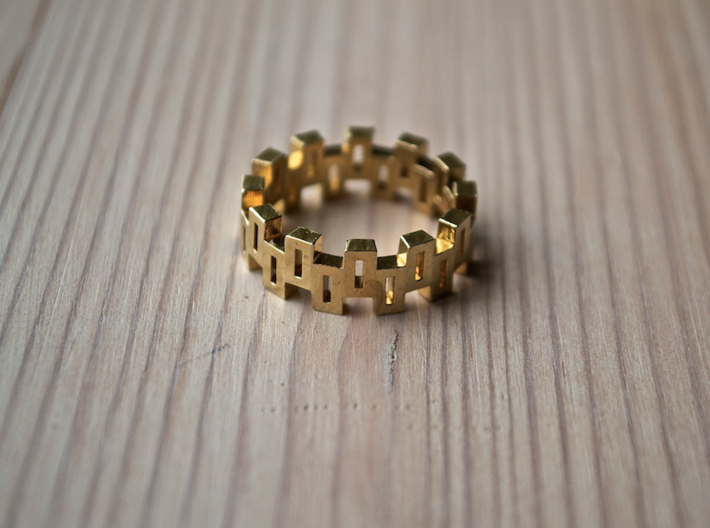 """Boxiness"" Ring - Size Medium 3d printed"