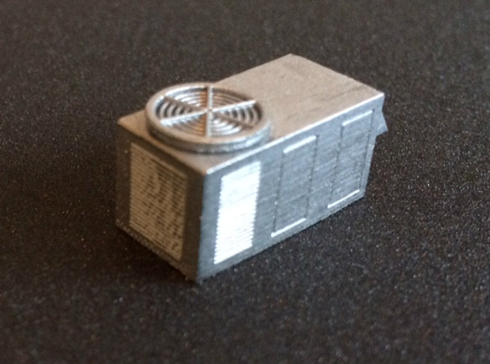 N Scale rooftop HVAC Unit (2pc) 3d printed