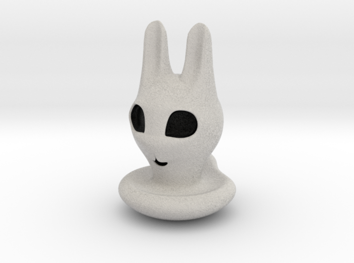 Halloween Character Hollowed Figurine: BunnyGhosty 3d printed