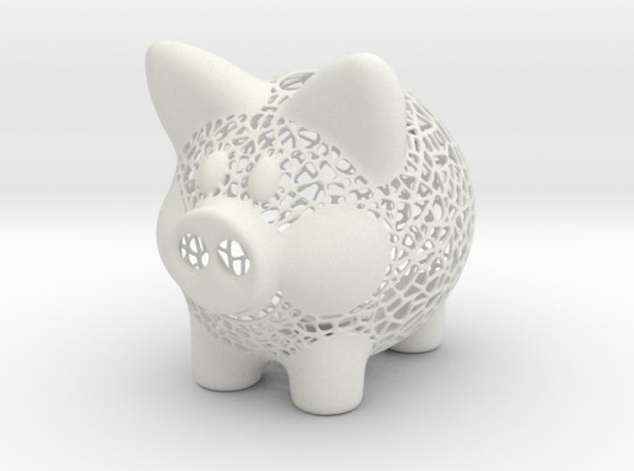 Peek A Boo Piggy Bank 4 Inch Tall 3d printed