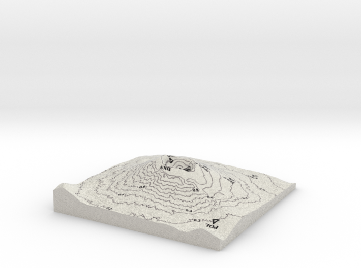 MOUNT VESUVIUS CONTOUR LINES 3d printed