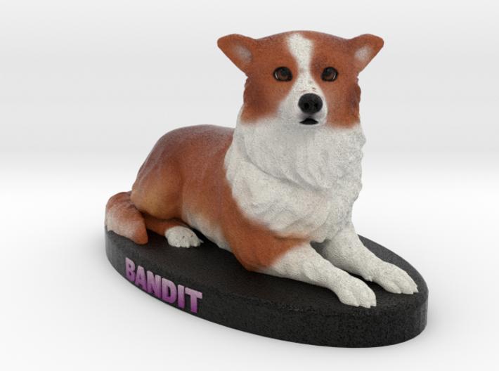 Custom Dog Figurine - Bandit 3d printed