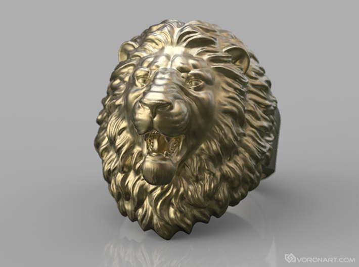 Aggressive Lion Ring 3d printed Digital preview. How your ring will look depends on the selected material