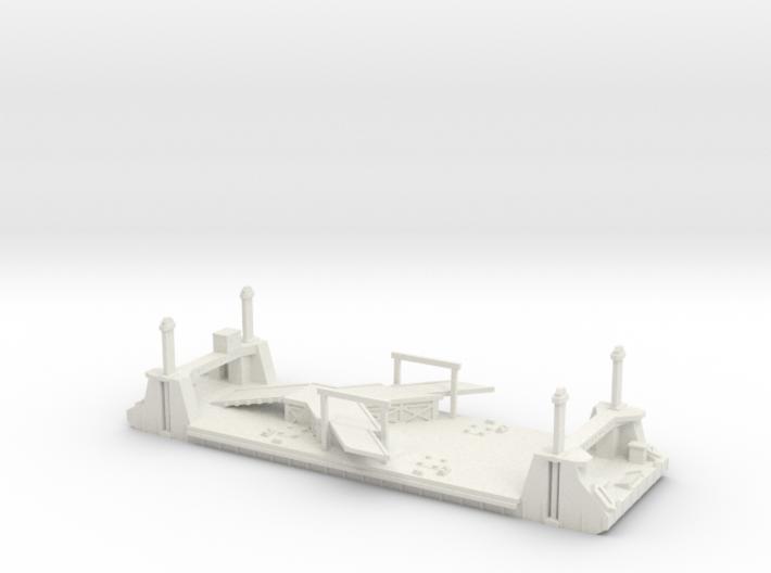 1/600 1 Off LST Pierhead Part 1 3d printed