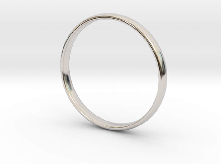 Simple wedding/engagement band - size 6 US 3d printed