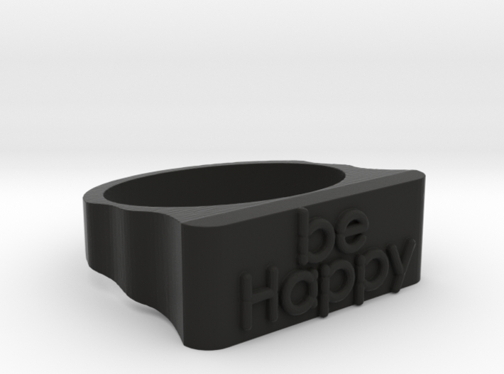 Be Happy Ring size 18mm 3d printed