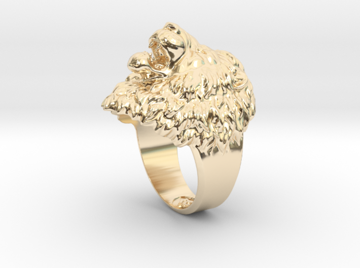 Aggressive Lion Ring 3d printed