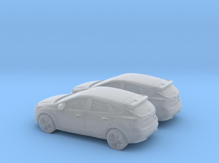 1/160 2X 2012 Ford Focus 3d printed