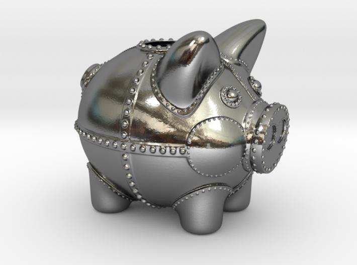 Steampunk Piggy Bank 2 Inch Tall 3d printed