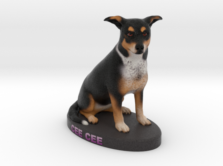 Custom Dog Figurine - Ceecee 3d printed