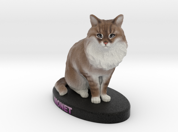 Custom Cat Figurine - Monet 3d printed