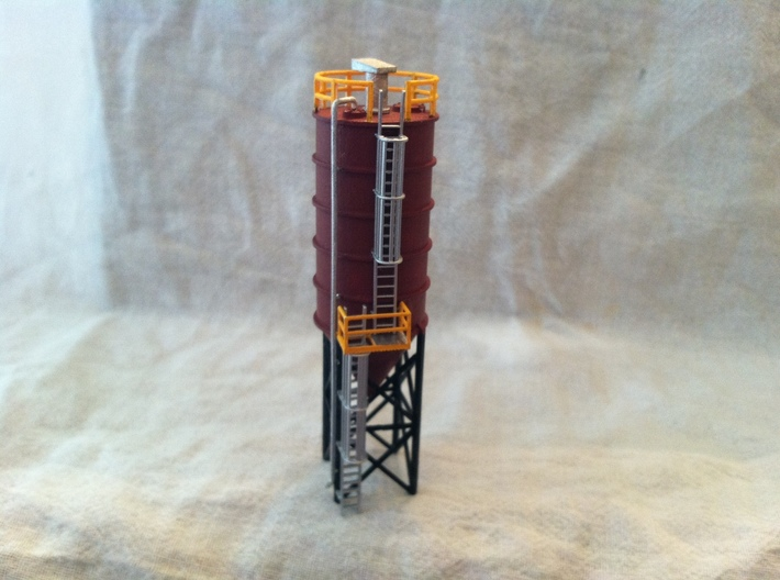 'N Scale' - Caged Ladders For Cement Silo 3d printed