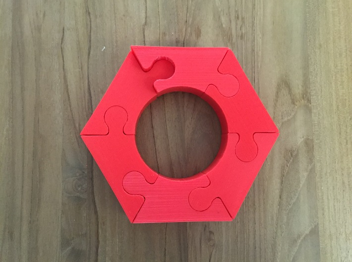 The Impossible Puzzle (Requires 6 pieces) 3d printed