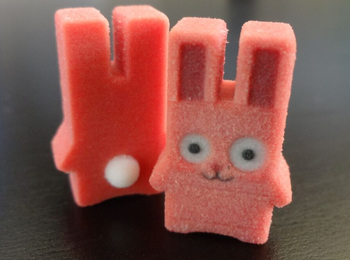 Mini Full Colour Freezer Bunny 3d printed Full Colour Sandstone Freezer bunny