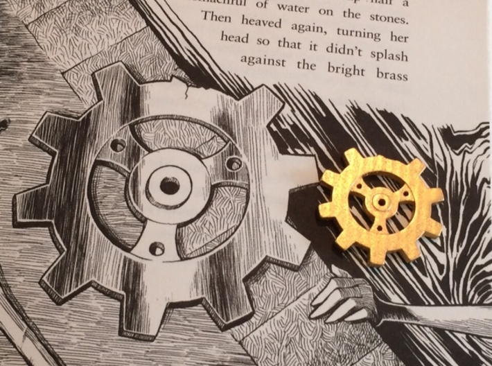 Fulcrum 3d printed The printed gear shown together with Nate Taylor's drawing from the book.