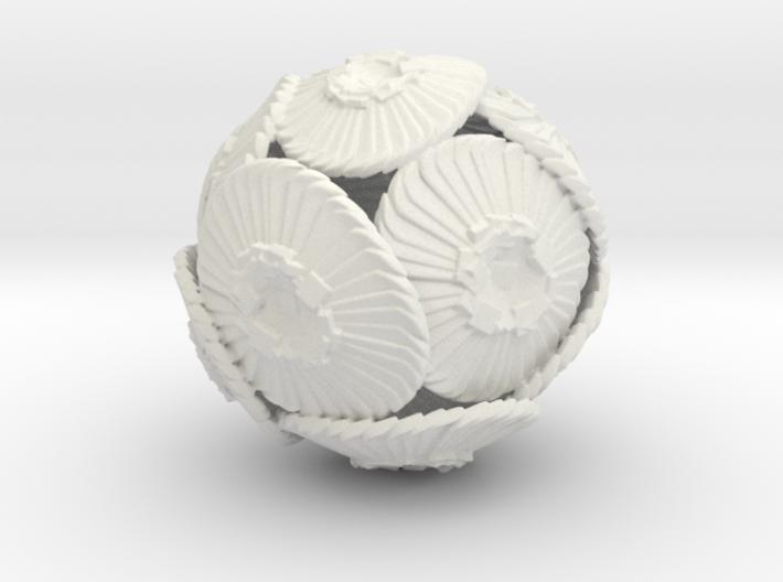 Coccolithus Desk Sculpture 3d printed