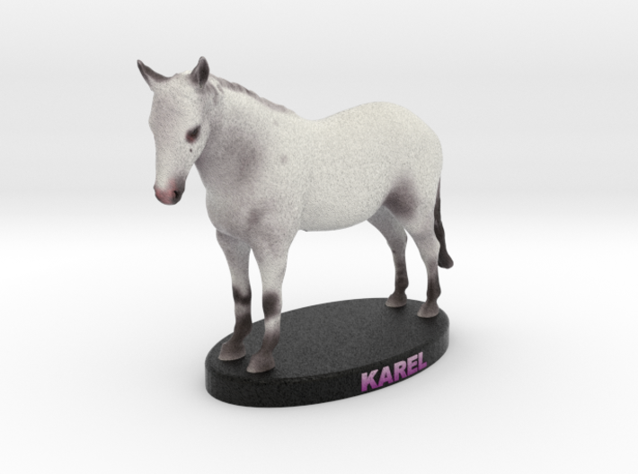 Custom Horse Figurine - Karel 3d printed