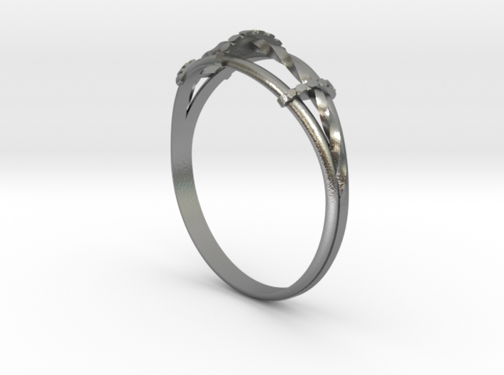 Torsades - A Triple Twisted Ring 3d printed