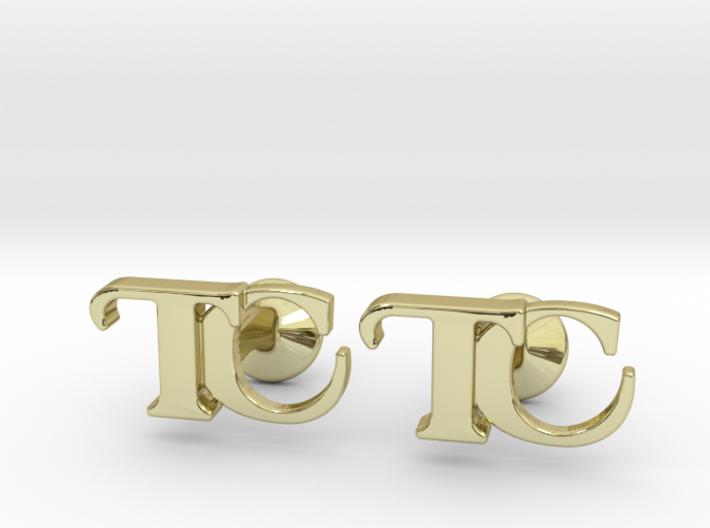 Monogram Cufflinks TC 3d printed